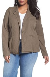 Caslonr Plus Size Women's Caslon One Button Knit Blazer
