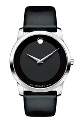 Movado Men's 'Museum' Leather Strap Watch 40Mm