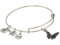 Alex And Ani Butterfly Hanley Center Rafaelian Silver Finish Bracelet