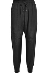 Clu Satin Track Pants Black