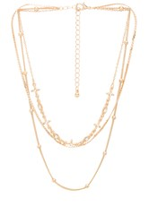8 Other Reasons Mystic Necklace Metallic Gold