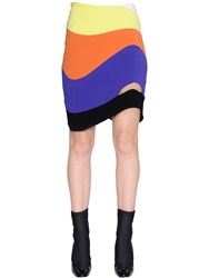 Thierry Mugler Wave Cutout Stretch Cady Skirt