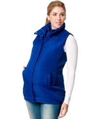 Motherhood Maternity Hooded Puffer Vest