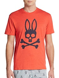 Psycho Bunny Logo Graphic Cotton Jersey Tee Poppy Red