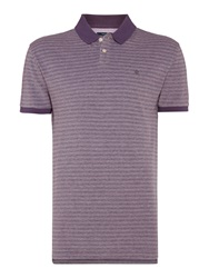 Criminal Oscar Pique Short Sleeved Polo Top Purple