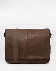Asos Satchel In Brown Faux Leather Brown