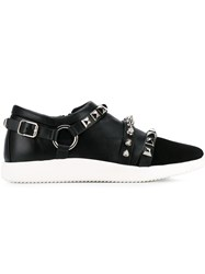 Giuseppe Zanotti Design 'Runner' Studded Sneakers Black