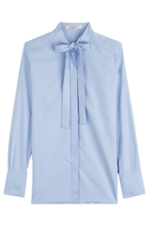 Valentino Cotton Poplin Blouse With Pussy Bow