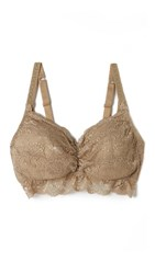 Ingrid And Isabel Lace Drop Cup Pullover Nursing Bra Nude