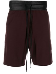 Unconditional Contrast Waistband Shorts Red