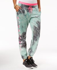 Jessica Simpson The Warm Up Juniors' Tie Dyed Jogger Pants Blue Tie Dye