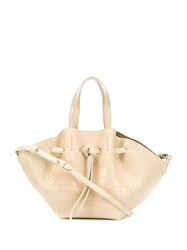 Iro Textured Mini Tote Bag Neutrals