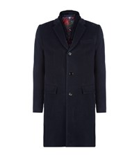 Ted Baker Taranto Overcoat Male Navy