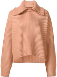 Edun Chunky Knitted Pullover Pink And Purple
