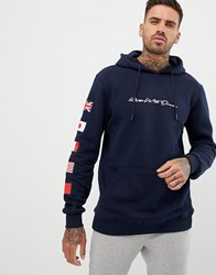 Kings Will Dream Hoodie With Badges In Navy