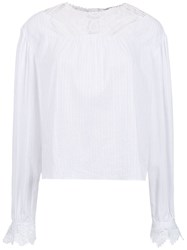 Martha Medeiros Lace Top White