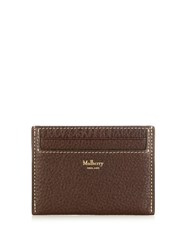 Mulberry Grained Leather Cardholder Burgundy