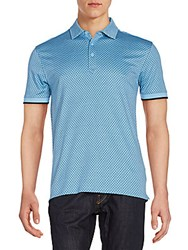 Saks Fifth Avenue Mini Diamond Polo Shirt Heritage Blue