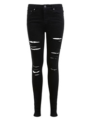Miss Selfridge Lizzie Shredded Jeans Black