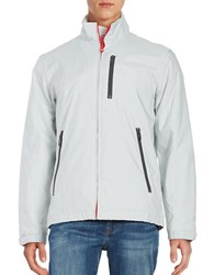 Vry Wrm Stand Collar Zip Front Jacket Ozone White