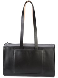 Building Block Elongated Straps Laptop Bag Black