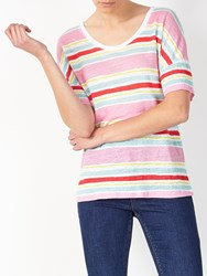 John Lewis Collection Weekend By Stripe Linen T Shirt Multi