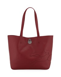 Longchamp Shop It Medium Leather Tote Bag Garnet Red