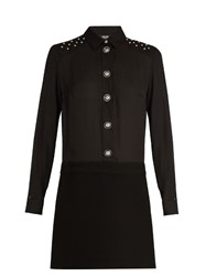 Versus By Versace Stud Embellished Shirtdress Black