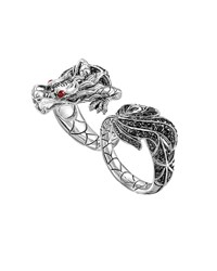 John Hardy Naga Silver Two Finger Dragon Ring Boy's