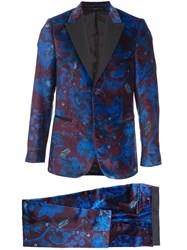 Paul Smith Floral Print Suit Jacket And Trousers 60