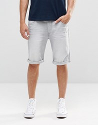 Lee Straight Denim Shorts Grey Cloud Grey Cloud