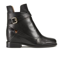 Thakoon Addition Women's Fiona 02 Leather Ankle Boots Black Leather