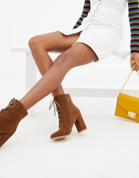 Pimkie Lace Up Boots In Brown