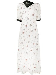 Creatures Of The Wind Lace Floral Print Dress White
