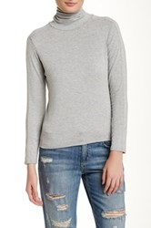 In Cashmere Long Sleeve Turtleneck Tee Gray