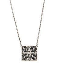 John Hardy Modern Chain Black Sapphire And Sterling Silver Pendant Necklace