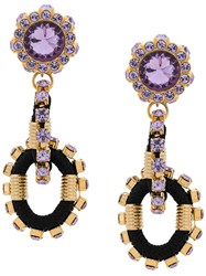 Dsquared2 Crystal Embellished Earrings Black