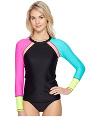 Body Glove Borderline Surf's Up Rashguard Black Women's Swimwear