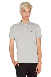 The Kooples Sport Polo Shirt With Stand Up Collar Gray