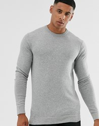 Only And Sons Crew Neck Jumper In Grey