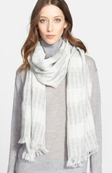 Fabiana Filippi Metallic Stripe Scarf Grey