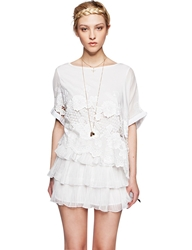 Pixie Market Frills And Lace Dress