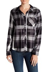 Como Vintage Long Sleeve Plaid Shirt Black