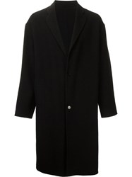H Beauty And Youth. Single Breasted Coat Black