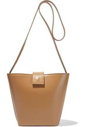 Iris And Ink Woman Ainsley Leather Shoulder Bag Camel