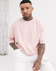 Bershka Join Life Oversized Fit T Shirt In Light Pink