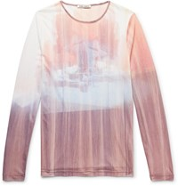 Our Legacy Printed Mesh T Shirt Pink