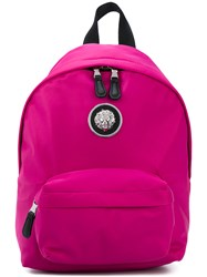 Versus Lion Head Backpack Pink And Purple