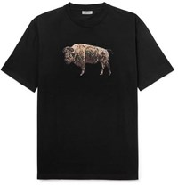 Lanvin Printed Cotton Jersey T Shirt Black