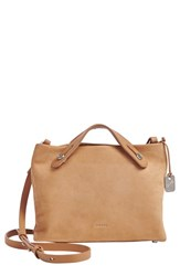 Skagen 'Mini Mikkeline' Leather Satchel Beige Light Tan